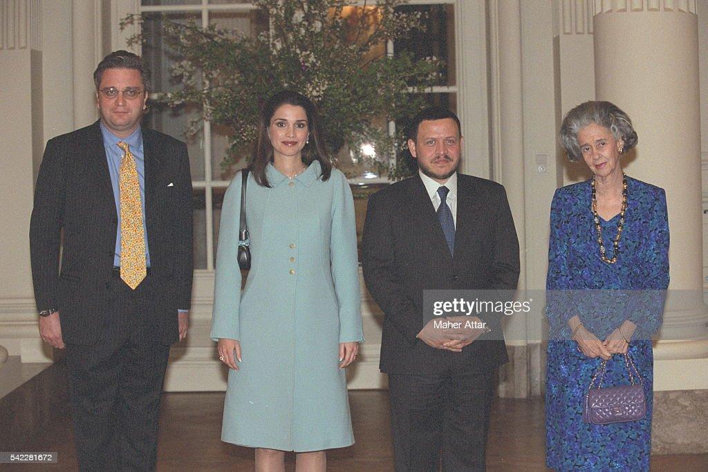Prince Laurent, Queen Rania, King Abdullah and Queen Fabiola.