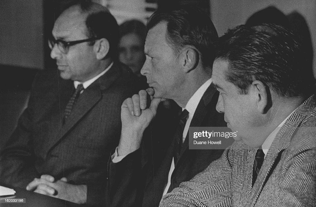 OCT 20 1965, 10-25-1965; Left to right: Prof. Leslie Fishman; Assoc. Prof. Richard B. Wilson; Prof.  : News Photo