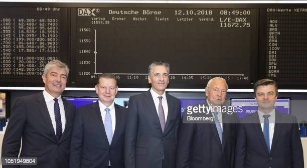 Left to right Ralph Heuwing chief financial officer of KnorrBremse AG Peter Laier member of the management board at KnorrBremse AG Klaus Deller chief...