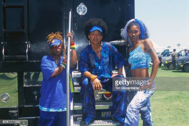 Rappers CoCo Medusa and Honey Luv backstage at the Coachella Music Festival in Indio California