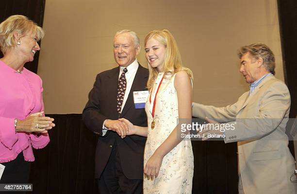 Left to right Reve Walsh Senator Orin Hatch Elizabeth Smart and John Walsh attend the National Center for Missing and Exploited Children's 9th Annual...