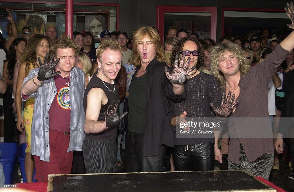 Def Leppard Honored on Rock Walk Hall of Fame : News Photo