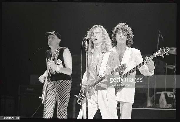Left to right Rick Nielson Robin Zander and Tom Petersson of Cheap Trick