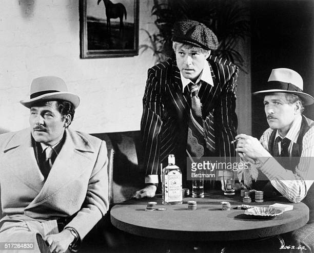 Robert Shaw Robert Redford and Paul Newman in a scene for the movie The Sting directed by George Roy Hill in 1973
