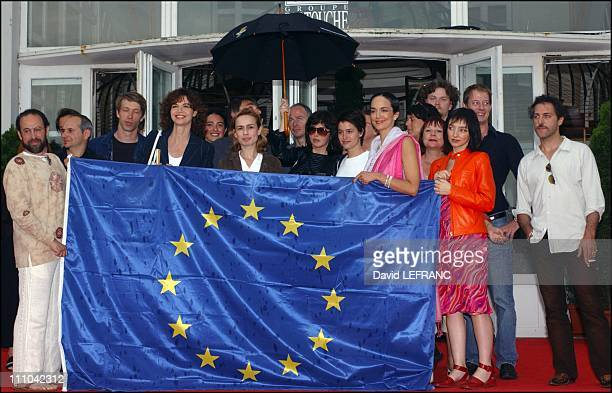Left to right S Bonnaire Isabelle Adjani Marie Gillain Irina Wanka Maria de Medeiros At the Cabourg Romantic Film Festival seven French actresses...