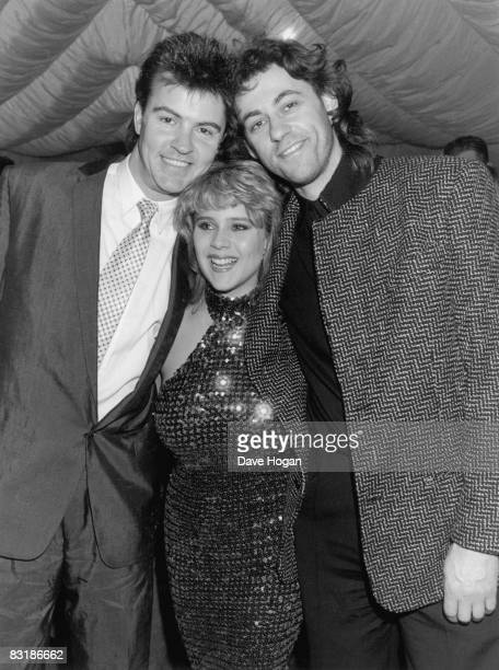 singers Paul Young Samantha Fox and Bob Geldof at the 'Absolute Beginners' premiere afterparty 7th April 1986