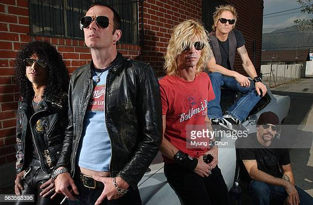 Slash Scott Weiland Duff McKagan Matt Sorum and Dave Kushner of Velvet Revolver The band is made of former Guns N' Roses and Stone Temple Pilots...