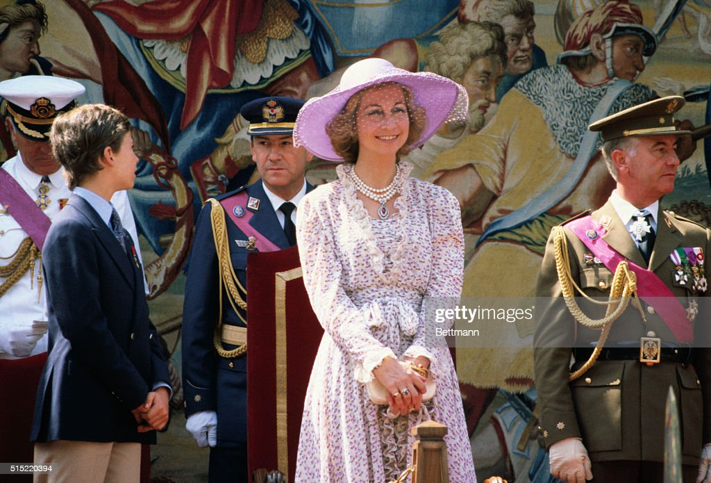 Children of King and Queen of Spain : News Photo
