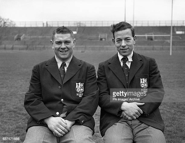 Left to right Tom Clifford and Karl Mullen the team captain part of the Great Britain and Ireland rugby team which is to tour Australia and New...