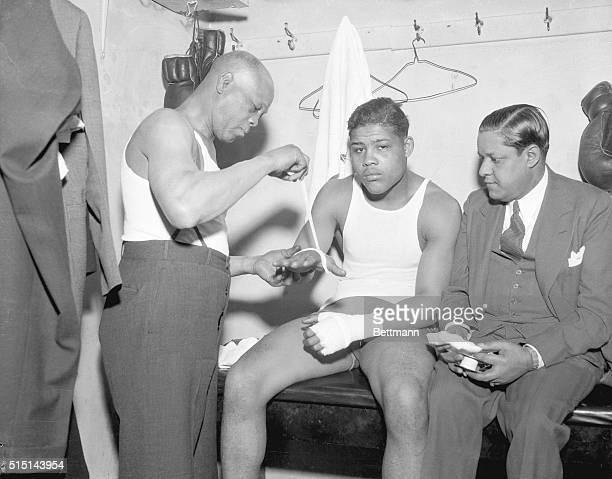 Trainer Jack Blackburn Joe Louis Negro Heavyweight Manager Julian Black