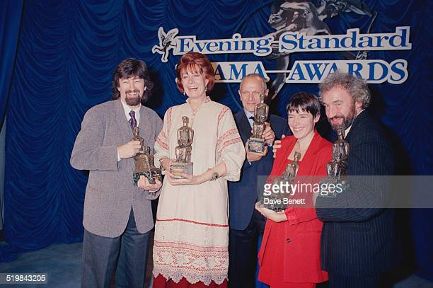 Trevor Nunn Vanessa Redgrave Steven Berkoff Rona Munro and Simon Callow with their awards at the Evening Standard Theatre Awards held at the Savoy...