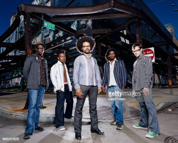 Left to right Tunde Adebimpe Gerard A Smith Kyp Malone Jaleel Bunton and David Andrew Sitek
