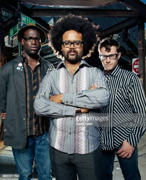 Left to right Tunde Adebimpe Kyp Malone and David Andrew Sitek