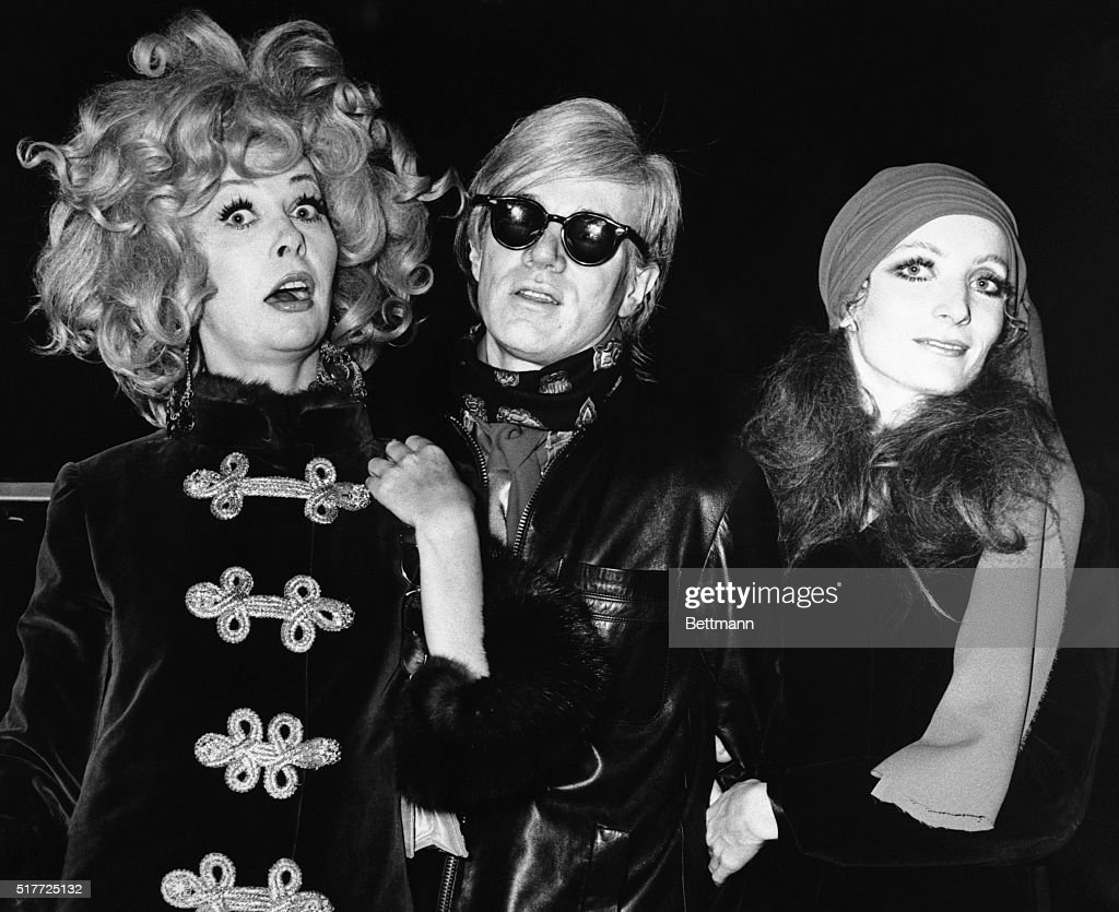Ultra Violet; Andy Warhol, and unidentified friend arrive at the Trans-Lux Theater for the premiere of 'I Love You, Alice B. Toklas!' 10/7/1968 BPA