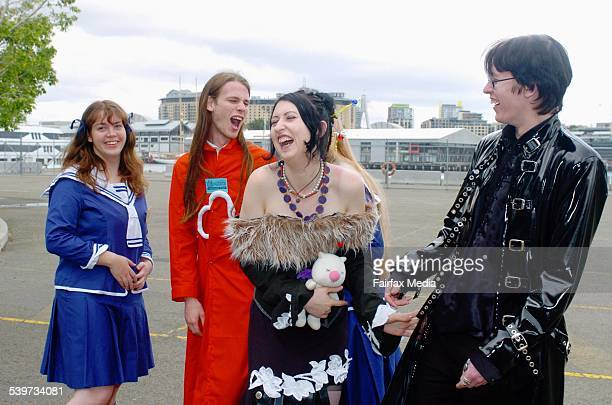 Left to right Verity Lawrence Douglas Rees Gina Reynolds and Matthew Woods at the Supanova Pop Culture Expo in Walsh Bay 14 October 2005 SHD NEWS...