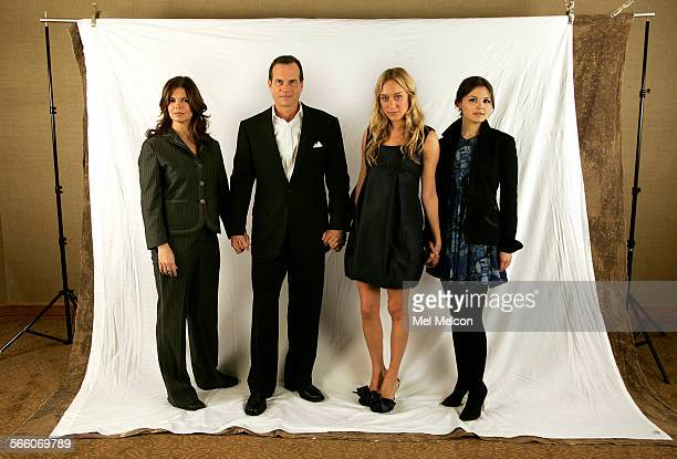 Left to right-Jeanne Tripplehorn, Bill Paxton, Chloe Sevigny, and Ginnifer Goodwin, the four principle actors from HBO's Big Love, a show about a...