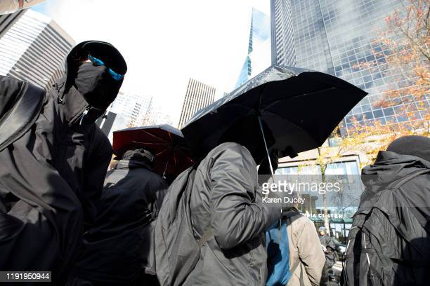 Left wing counterdemonstrators and antifascist groups protest at a gun rights rally called United Against Hate hosted by the right wing group the...