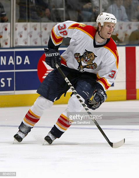 Left wing Eric Beaudoin of the Florida Panthers skates on the ice during the game against the Toronto Maple Leafs at Air Canada Centre on March 9...