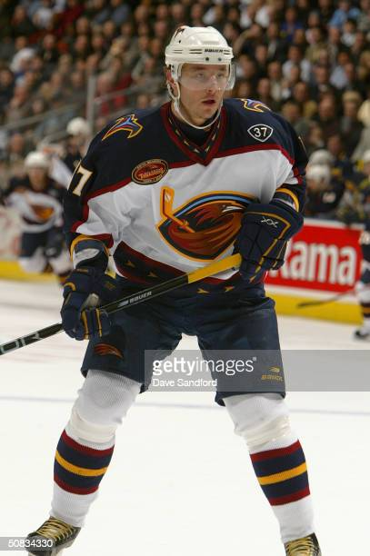 Left wing Ilya Kovalchuk of the Atlanta Thrashers is on the ice for the game against the Toronto Maple Leafs at Air Canada Centre on March 29, 2004...