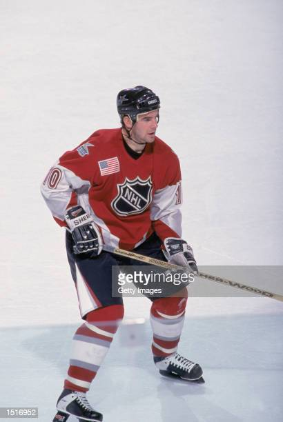 Left wing John Leclair of the North American All Stars skates on the ice during the 1999 NHL All Star Game against the World All Stars on January 24...