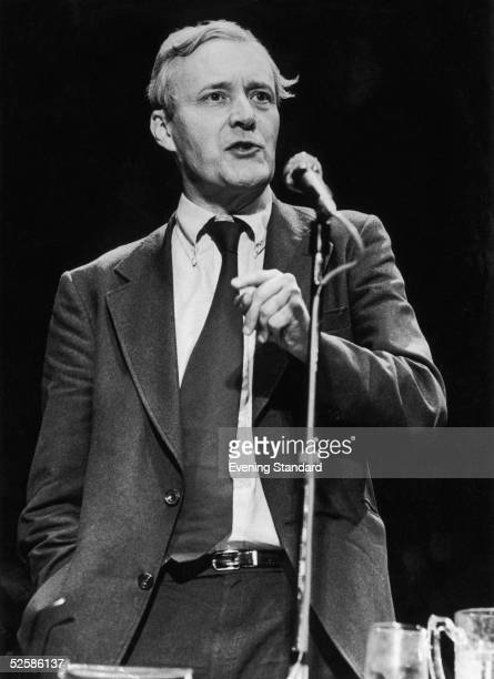 Left wing Labour MP Tony Benn gives a speech at the Labour Party Conference of October 1978