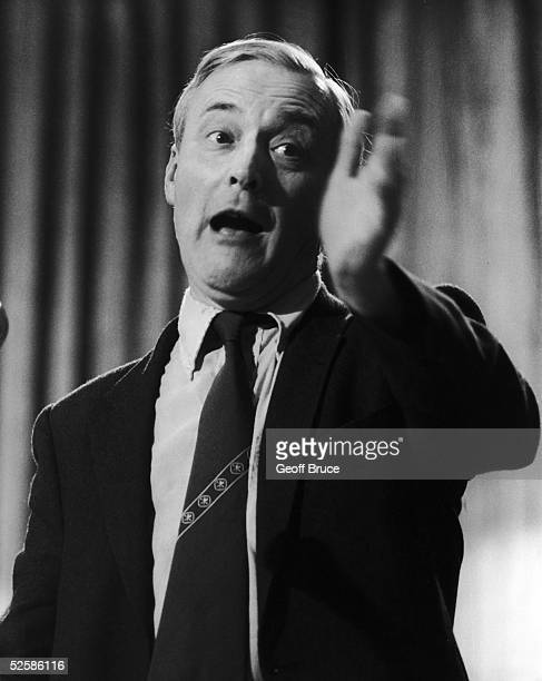 Left wing Labour MP Tony Benn giving a speech at the Labour Party conference in Blackpool 2nd October 1980
