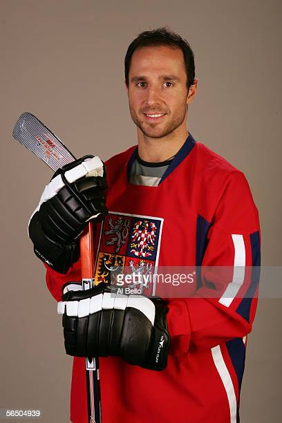 Left wing Martin Rucinsky of the New York Rangers poses for a portrait at The Rangers training complex in Tarrytown New York on December 29 2005...