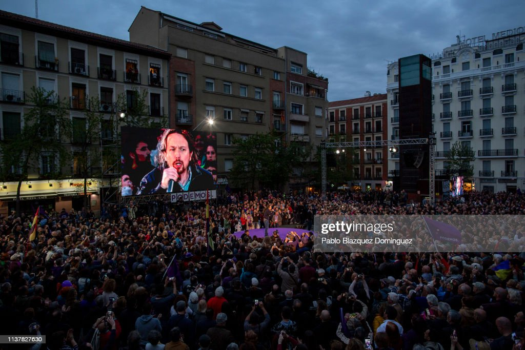ESP: Podemos Party Rally Ahead of Spain's General Elections
