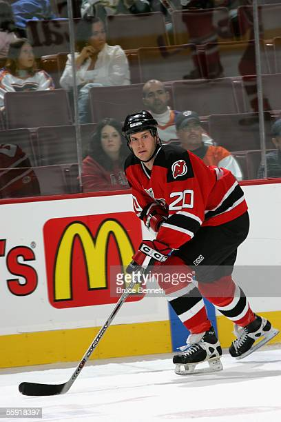 Left wing Ryan Murphy of the Albany River Rats skates on the ice during the game against the Philadelphia Phantoms on October 9 2005 at the Wachovia...