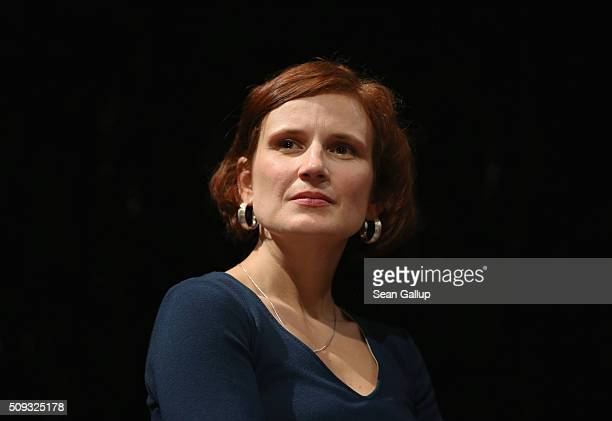 Leftist German politician Katja Kipping of Die Linke political party attends the official launch of the Democracy in Europe Movement 2025 at the...