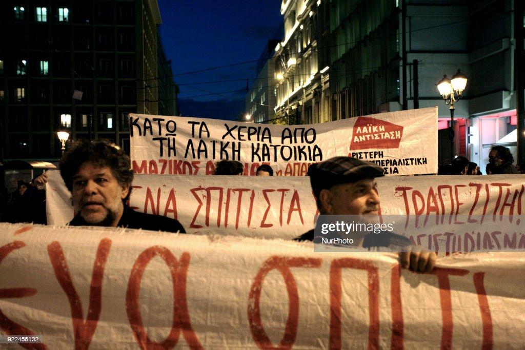 Demonstration against property foreclosure auctions : Nachrichtenfoto