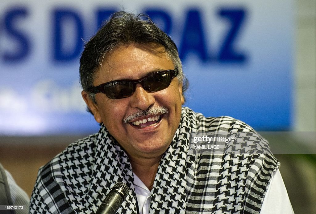 Ep Leftist Guerrilla Commander Jesus Santrich Laughs After Arriving At The Convention Palace In Havana For
