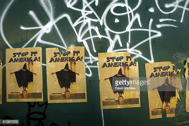 Leftleaning local politics is reflected in posters critical of the Abu Ghraib Iraqi prison scandal July 12 2004 in Venice California An influx of...