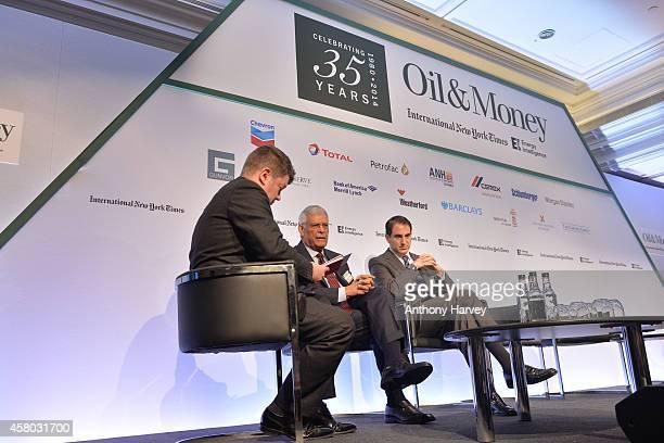 LeftRight Jim Washer Energy Intelligence Abdalla Salem ElBadri OPEC Secretary Gernal and Tomas Gonzalez Estrada Colombian Minister of Mines and...