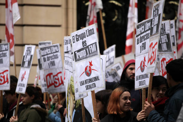 ARG: Protest Against The Lima Group Meeting In Buenos Aires