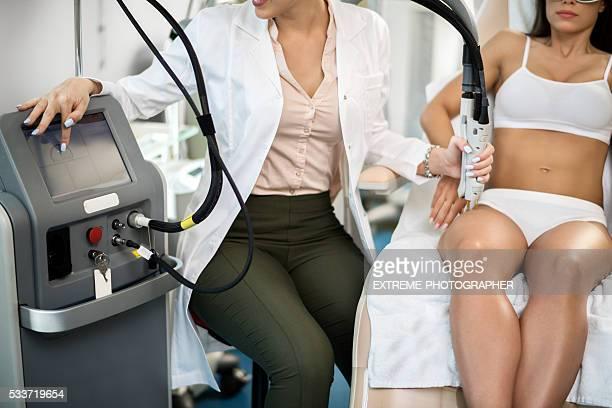 Leg epilation treatment
