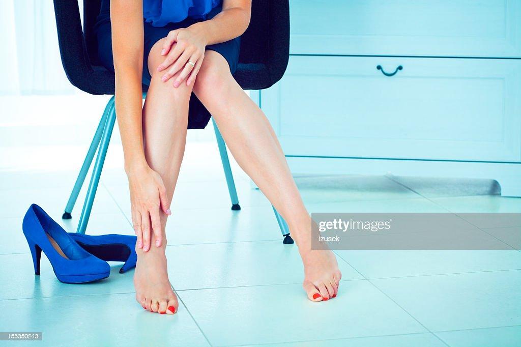 Leg pain : Stock Photo