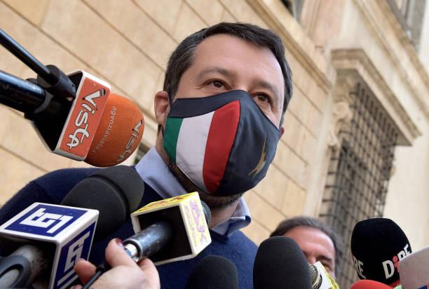 ITA: Lega Leader Matteo Salvini Meets The Press