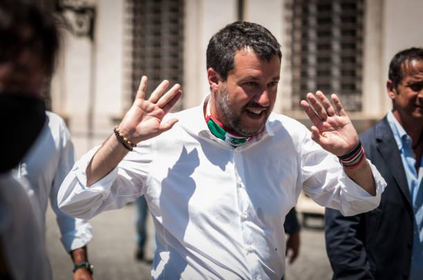ITA: Lega Nord Demonstration In Rome