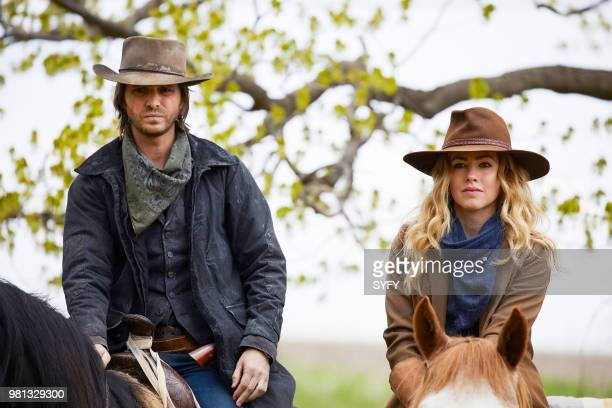12 MONKEYS 'Legacy' Episode 404 Pictured Aaron Stanford as James Cole Amanda Schull as Cassandra Railly