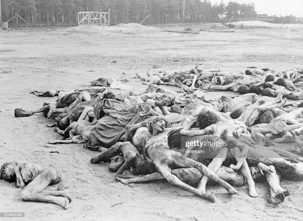 Legacy of Nazism: A Few of the Thousands of Dead at Belsen : News Photo