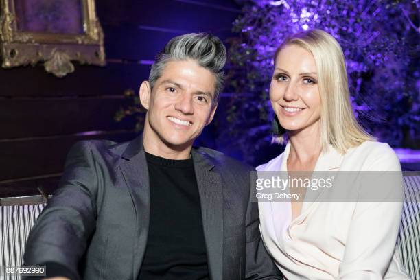 Legacy Perez and Patricia Kaniowski attend The Junior Hollywood Radio Television Society's 15th Annual Holiday Party at Le Jardin on December 6 2017...