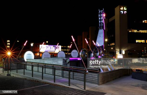 Legacy Ship outside US Bank Stadium home of the Minnesota Vikings football team in Minneapolis Minnesota on October 12 2018