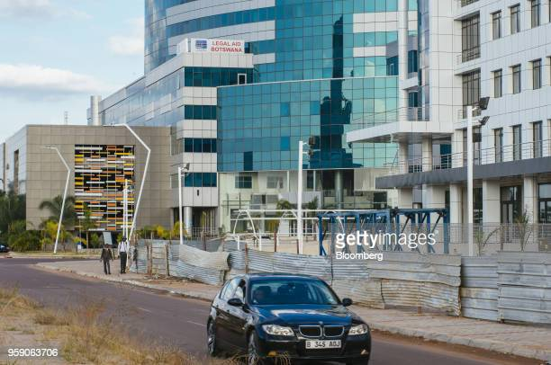 Legal Aid Botswana offices stand in the central business district of Gaborone Botswana on Monday May 14 2018 Botswanas new leader...