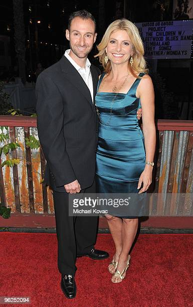 Legal Analyst Lisa Bloom and Braden Pollock arrive at the Artists For Peace And Justice and WeTheChildren Project Benefit For Haiti at House of Blues...