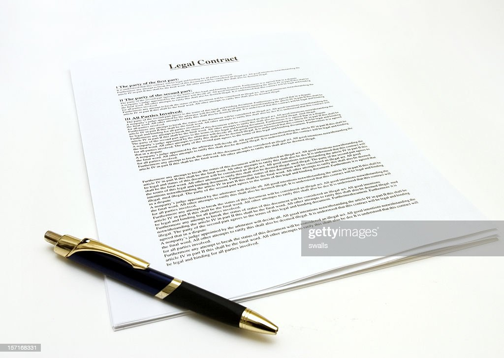 Legal Contract : Stock Photo