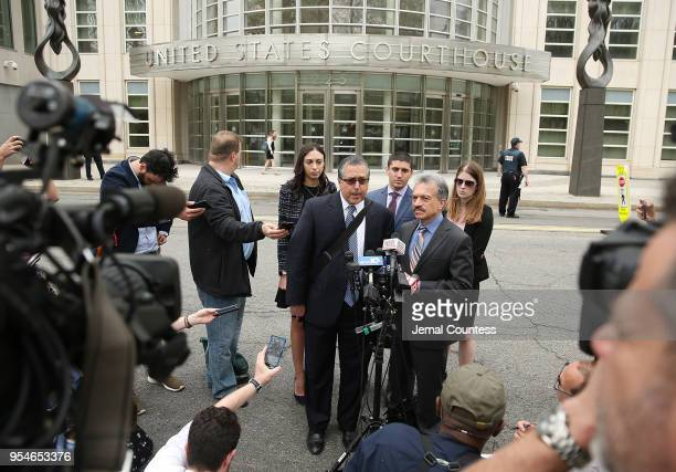 Legal Council representing Keith Raniere and the group NXIVM Mark Agnifilo and Paul DerOhannesian speak to the media outside the United States...