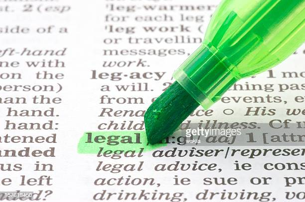 legal definition tagged in dictionary - symbool stockfoto's en -beelden