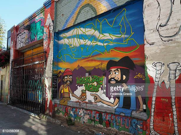 Legalize Hemp, Mural Art in Clarion Alley, Mission District, San Francisco, California