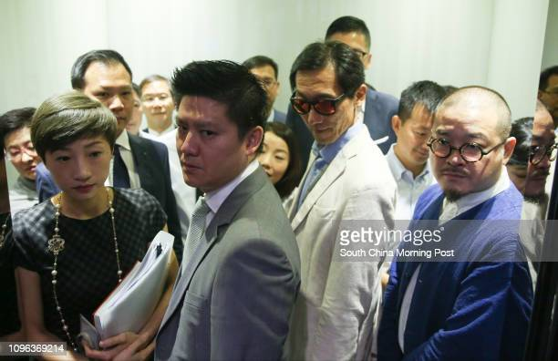 Legco president Andrew Leung Kwanyuen meets the prodemocratic lawmakers in Tamar Picture shows lawmakers Tanya Chan Sukchong Jeremy Tam Manho Edward...